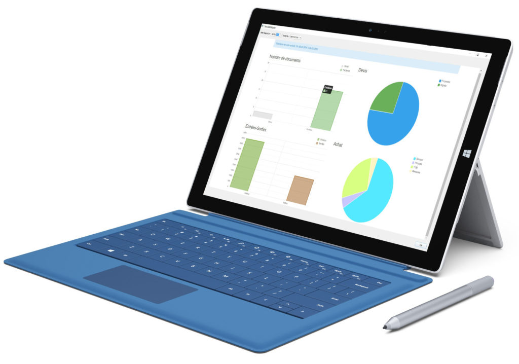Microsoft Surface Pro statistique